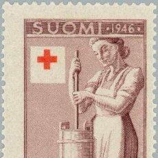 Sellos: FINLANDIA 1946 SCOTT B75 SELLO ** CRUZ ROJA GRANJERA HACIENDO MANTEQUILLA MICHEL 321 YVERT 306. Lote 222476480