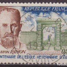 Sellos: FRANCIA 1967 SCOTT 1183 SELLO º PERSONAJES PROFESOR GARTON RAMON (1886- 1963) Y ESCUELA VETERINARIA. Lote 222600948