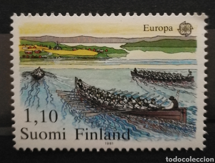 FINLANDIA N°845 MNH** DEPORTES (FOTOGRAFÍA REAL) (Sellos - Extranjero - Europa - Finlandia)