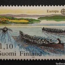 Sellos: FINLANDIA N°845 MNH** DEPORTES (FOTOGRAFÍA REAL). Lote 225154498