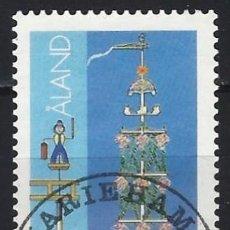 Sellos: ALAND 1985 - SOLSTICIO DE VERANO - USADO. Lote 225749190