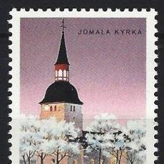 Sellos: ALAND 1988 - IGLESIA DE JOMALA - MNH**. Lote 225750866