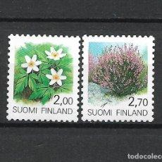 Sellos: FINLANDIA 1990 SERIE COMPLETA ** MNH FLORA - 1/3. Lote 226744715