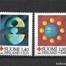 Sellos: FINLANDIA 1984 SERIE COMPLETA ** MNH CRUZ ROJA - 1/2. Lote 226745211