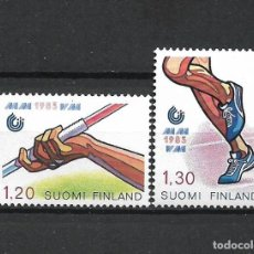 Sellos: FINLANDIA 1983 SERIE COMPLETA ** MNH FIRST WORLD ATHLETIC CHAMPIONSHIPS - 1/2. Lote 226745315