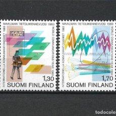 Sellos: FINLANDIA 1983 SERIE COMPLETA ** MNH WORLD COMMUNICATIONS - 1/2. Lote 226745375