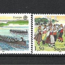 Sellos: FINLANDIA 1981 SERIE COMPLETA ** MNH EUROPA CEPT - 1/2. Lote 226745435