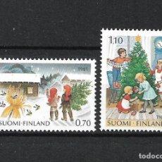 Sellos: FINLANDIA 1981 SERIE COMPLETA ** MNH NAVIDAD - 1/2. Lote 226745465
