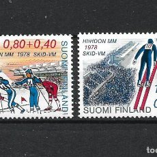 Sellos: FINLANDIA 1977 SERIE COMPLETA ** MNH DEPORTES DE INVIERNO - 1/2. Lote 226745755