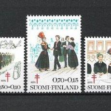 Sellos: FINLANDIA 1976 SERIE COMPLETA ** MNH TUBERCULOSIS - 1/2. Lote 226745835