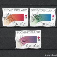 Sellos: FINLANDIA 1977 SERIE COMPLETA ** MNH CRUZ ROJA - 1/2. Lote 226745935