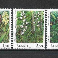 Sellos: FINLANDIA ALAND 1989 SERIE COMPLETA ** MNH FLORA - 1/2. Lote 226746004