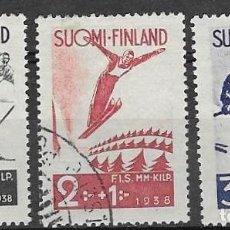 Sellos: SELLOS USADOS DE FINLANDIA 1938, YT 200/ 02. Lote 228295685