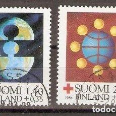 Sellos: FINLANDIA.1984. YT. 910,911. CRUZ ROJA. Lote 228488740