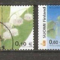 Sellos: FINLANDIA.2002. FLORES.. Lote 228488850