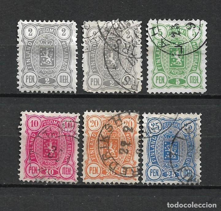FINLANDIA 1889 USADO SC 38/42 - 3/9 (Sellos - Extranjero - Europa - Finlandia)