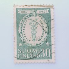 Sellos: SELLO POSTAL FINLANDIA 1962, 30 MK , CENTENARIO DE LOS BANCOS COMERCIALES, USADO. Lote 229910605