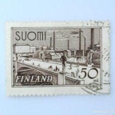 Sellos: SELLO POSTAL FINLANDIA 1948, 50 MK, PUENTE TAMPERE, USADO. Lote 229972035