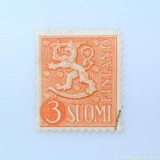 Sellos: SELLO POSTAL FINLANDIA 1954, 3 MK, ESCUDO DE ARMAS 1954, USADO. Lote 230100365