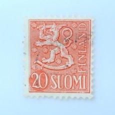 Sellos: SELLO POSTAL FINLANDIA 1956, 20 MK, ESCUDO DE ARMAS 1954, USADO. Lote 230100860