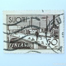 Sellos: SELLO POSTAL FINLANDIA 1951, 50 MK, PUENTE TAMPERE, USADO. Lote 230105950