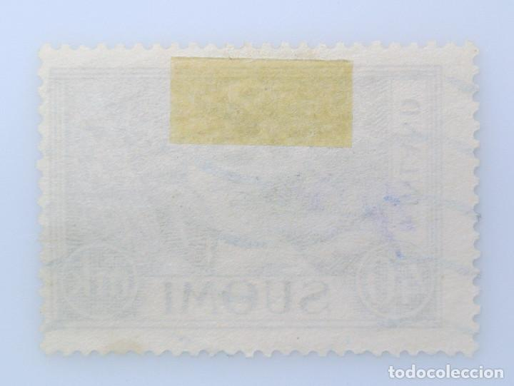 Sellos: SELLO POSTAL FINLANDIA 1952, 40 mk, LEÑADOR, USADO - Foto 2 - 230106290