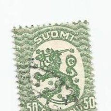 Sellos: SELLO USADO DE FINLANDIA DE 1921- ESCUDO DE ARMAS- YVERT 103- VALOR 50 PENNI. Lote 234729065