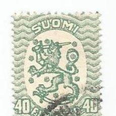 Sellos: SELLO USADO DE FINLANDIA DE 1924- ESCUDO DE ARMAS- YVERT 102- VALOR 40 PENNI. Lote 234730090
