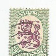 Sellos: 4 SELLOS USADOS DE FINLANDIA DE 1926- ESCUDO NACIONAL- YVERT 116- VALOR 1 Y 1/2 MARCO. Lote 234739075