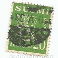 Sellos: SELLO USADO DE FINLANDIA DE 1930- ESCUDO DE ARMAS- YVERT 143- VALOR 20 PENNI. Lote 234741860