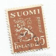 Sellos: SELLO USADO DE FINLANDIA DE 1930- ESCUDO DE ARMAS- YVERT 144- VALOR 25 PENNI. Lote 234744820