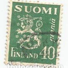Sellos: SELLO USADO DE FINLANDIA DE 1930- ESCUDO DE ARMAS- YVERT 145- VALOR 40 PENNI. Lote 234745485