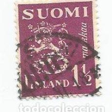 Sellos: SELLO USADO DE FINLANDIA DE 1930- ESCUDO DE ARMAS- YVERT 150- VALOR 1 Y 1/2 MARCO. Lote 234746345