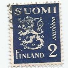 Sellos: 2 SELLOS USADOS DE FINLANDIA DE 1930- ESCUDO DE ARMAS- YVERT 151- VALOR 2 MARCOS. Lote 234843330