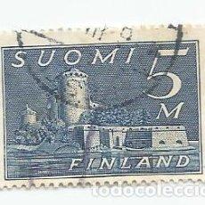 Sellos: SELLO USADO DE FINLANDIA DE 1930- CASTILLO DE OLAVINLINNA- YVERT 153- VALOR 5 MARCOS. Lote 234845310