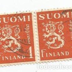 Sellos: 4 SELLOS USADOS DE FINLANDIA DE 1930- ESCUDO DE ARMAS - YVERT 148- VALOR 1 MARCO. Lote 234846705