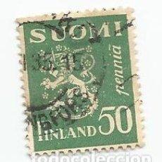 Sellos: 2 SELLOS USADOS DE FINLANDIA DE 1932- ESCUDO DE ARMAS - YVERT 146- VALOR 50 PENNI. Lote 234847735