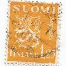 Sellos: SELLO USADO DE FINLANDIA DE 1932- ESCUDO DE ARMAS - YVERT 149- VALOR 1,25 MARCOS. Lote 234848420