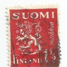 Sellos: SELLO USADO DE FINLANDIA DE 1932- ESCUDO DE ARMAS - YVERT 150- VALOR 1 Y 1/2 MARCOS. Lote 234849475