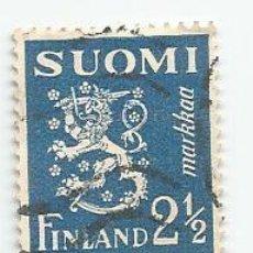 Sellos: 3 SELLOS USADOS DE FINLANDIA DE 1932- ESCUDO DE ARMAS- YVERT 151B- VALOR 2,5 MARCOS. Lote 234918840