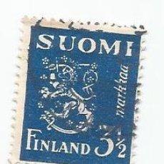 Sellos: SELLO USADO DE FINLANDIA DE 1936- ESCUDO DE ARMAS- YVERT 193- VALOR 3 Y 1/2 MARCOS. Lote 234921055