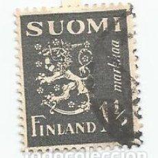 Sellos: SELLO USADO DE FINLANDIA DE 1940- ESCUDO DE ARMAS- YVERT 222- VALOR 1 Y 1/2 MARCOS. Lote 234922110