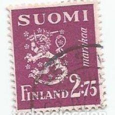 Sellos: SELLO USADO DE FINLANDIA DE 1940- ESCUDO DE ARMAS- YVERT 224- VALOR 2,75 MARCOS. Lote 234922680