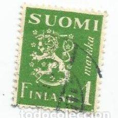 Sellos: SELLO USADO DE FINLANDIA DE 1942- ESCUDO DE ARMAS- YVERT 256- VALOR 1 MARCO. Lote 234923815