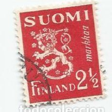 Sellos: SELLO USADO DE FINLANDIA DE 1942- ESCUDO DE ARMAS- YVERT 258- VALOR 2 Y 1/2 MARCOS. Lote 234924555