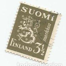 Sellos: SELLO USADO DE FINLANDIA DE 1942- ESCUDO DE ARMAS- YVERT 259- VALOR 3 Y 1/2 MARCOS. Lote 234925110