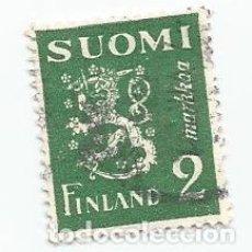 Sellos: SELLO USADO DE FINLANDIA DE 1945- ESCUDO DE ARMAS- YVERT 288- VALOR 2 MARCOS. Lote 234926075