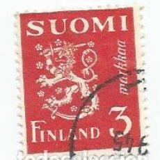 Sellos: SELLO USADO DE FINLANDIA DE 1945- ESCUDO DE ARMAS- YVERT 291- VALOR 3 MARCOS. Lote 234927500