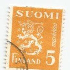 Sellos: SELLO USADO DE FINLANDIA DE 1946- ESCUDO DE ARMAS- YVERT 294- VALOR 5 MARCOS. Lote 234929945