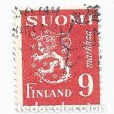 Sellos: SELLO USADO DE FINLANDIA DE 1948- ESCUDO DE ARMAS- YVERT 299- VALOR 9 MARCOS. Lote 235117420